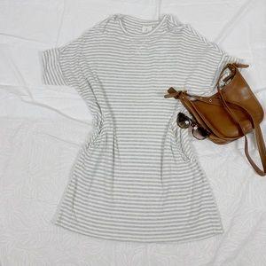 Lou & Grey stripe knit comfy dress with pockets